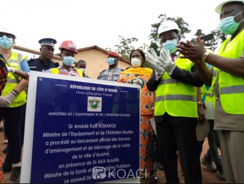Côte d'Ivoire : Sud-Comoé, l'axe Maféré-Kouakro bientôt bitumé, la  réhabilitation la voirie de la ville d'Ayamé annoncée