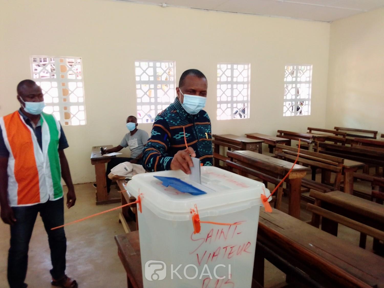 Côte d'Ivoire : Bouaké, après avoir accompli son devoir citoyen, Jean Claude Kouassi cadre RHDP : « ...c'est notre candidat qui va gagner...»