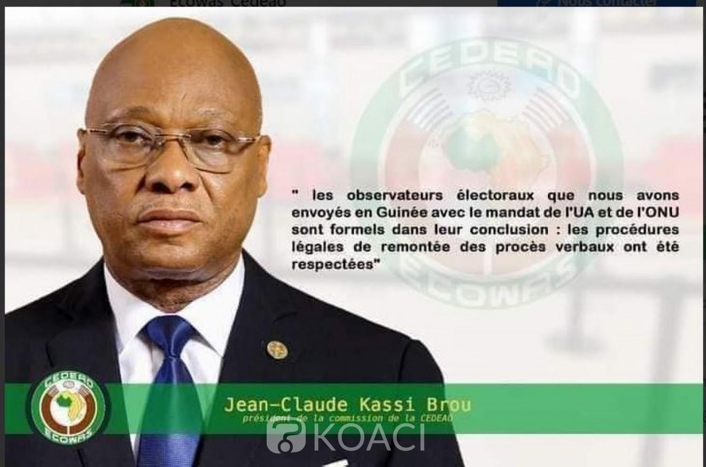 Côte d'Ivoire-Guinée : Une fausse déclaration attribuée au Président de la Commission de la CEDEAO sur la situation en Guinée