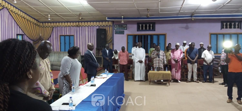 Côte d'Ivoire : Guiglo, situation post électorale, Anne Désirée Ouloto met les leaders religieux et les jeunes du Cavally en mission de paix
