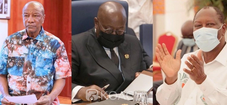 Côte d'Ivoire-Guinée :  Félicitations et appels d'Akufo-Addo aux Présidents Ouattara et Condé réélus