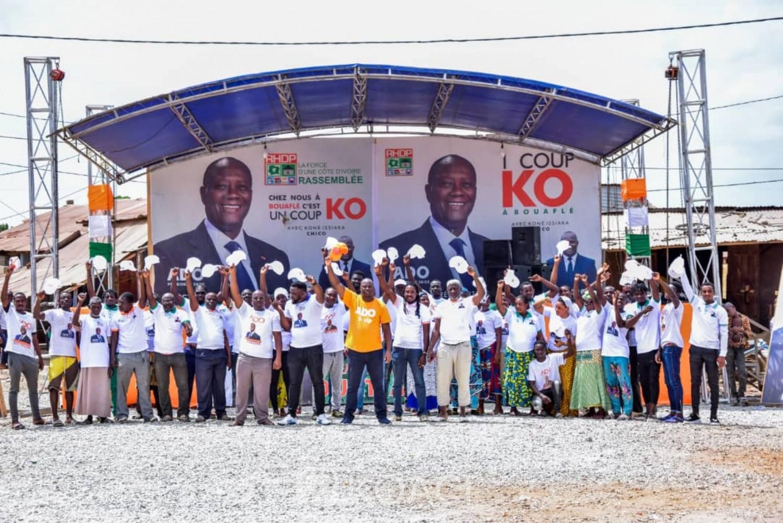 Côte d'Ivoire : Présidentielle, à Bouaflé, la population rend hommage à Issiaka Koné pour son implication pour la victoire écrasante d'Alassane Ouattara