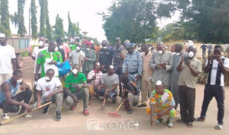 Côte d'Ivoire : M'batto, après les affrontements sanglants, place au ménage dans les rues, protagonistes et policiers, côte à côtes