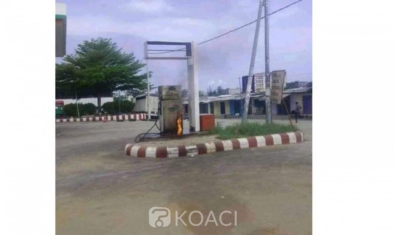 Côte d'Ivoire : Yopougon, des manifestants tentent de mettre le feu à une station-service