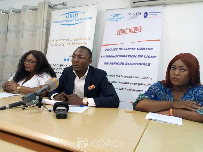 Côte d'Ivoire : L'OIDH invite les acteurs politiques à s'abstenir des discours qui fragilisent le climat sociopolitique