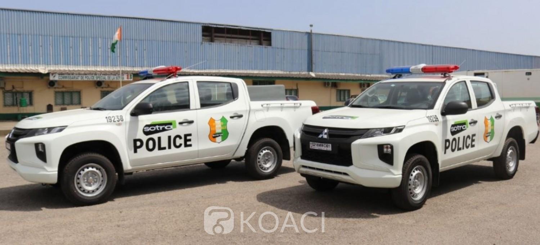 Côte d'Ivoire : Après les vandalismes urbains de la présidentielle, la Sotra dote sa police spéciale de deux véhicules pickup