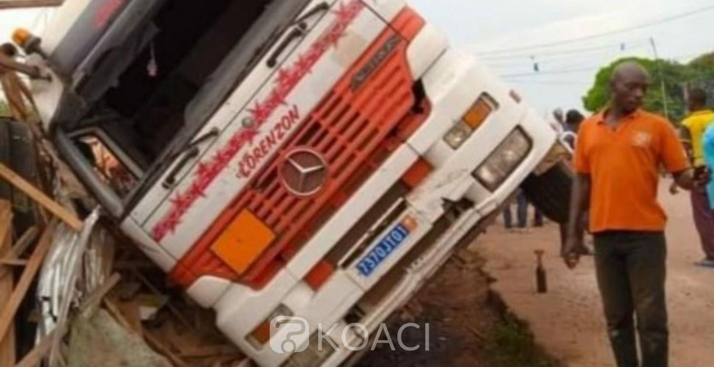Côte d'Ivoire : À Duekoué, un chauffeur de gros camion perd le contrôle de son véhicule et écrase une personne