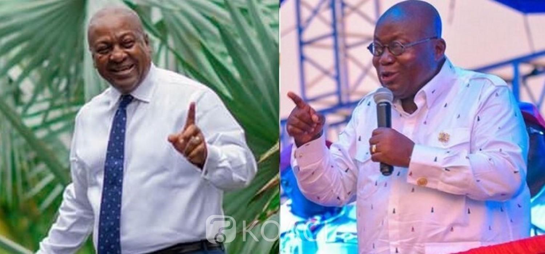 Ghana :  Présidentielle 2020, Akufo-Addo et Mahama, chacun dans le fief de son adversaire, pour renverser le vote traditionnel