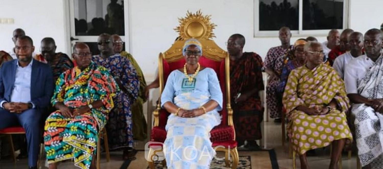 Côte d'Ivoire : Absente comme d'autres durant la présidentielle, la Reine des Baoulé réapparait et s'engage à « rassembler » Bédié et Ouattara pour la stabilité du pays