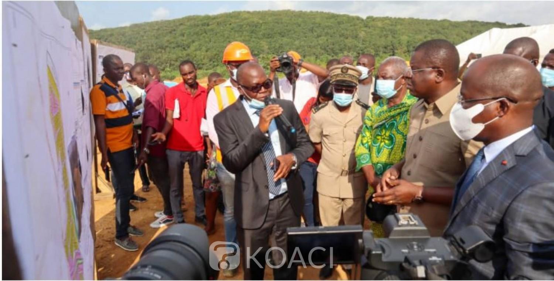 Côte d'Ivoire : Ecole, camions, ménages impactés par le 4e pont, Amédé Kouakou s'imprègne de l'avancement des travaux de  la reconstruction, recasement  et délocalisation