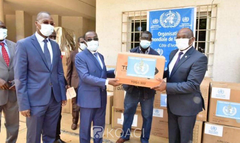 Côte d'Ivoire : Lutte contre la COVID-19, plus 300 millions de FCFA de matériels et d'équipements médicaux de l'OMS offerts au ministère de la Santé et de l'hygiène publique