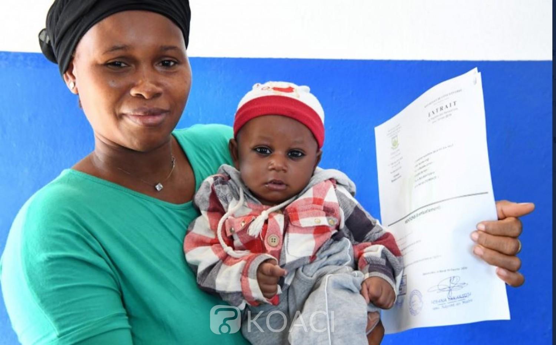 Côte d'Ivoire : Malgré la mise en place d'un système d'enregistrement dans les centres de santé, plus   d'un million d'enfants n'ont pas d'extrait, relève l'UNICEF