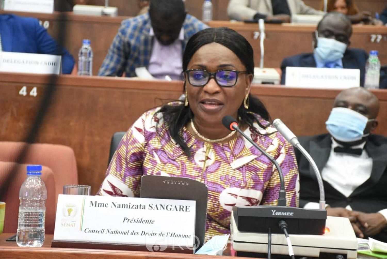 Côte d'Ivoire : Namizata Sangaré à propos de la situation des droits de l'homme: «Nous ne sommes pas satisfaits, toutefois des efforts, des progrès ont été faits »