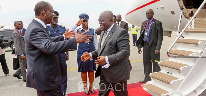 Ghana :  Akufo-Addo part aux investitures des Présidents Ouattara et Condé, suite au Royaume-Uni