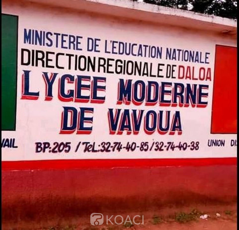 Côte d'Ivoire : Congés anticipés, trois individus perturbateurs des cours mis aux arrêts au Lycée de vavoua