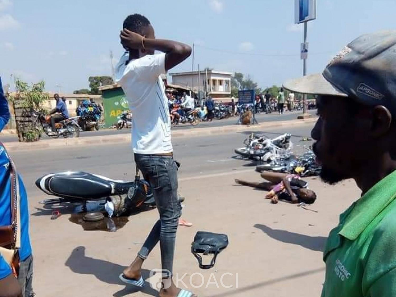 Côte d'Ivoire : Korhogo, les freins d'un gros camions le lâchent et percute plusieurs personnes à un feu vert, des morts et des blessés