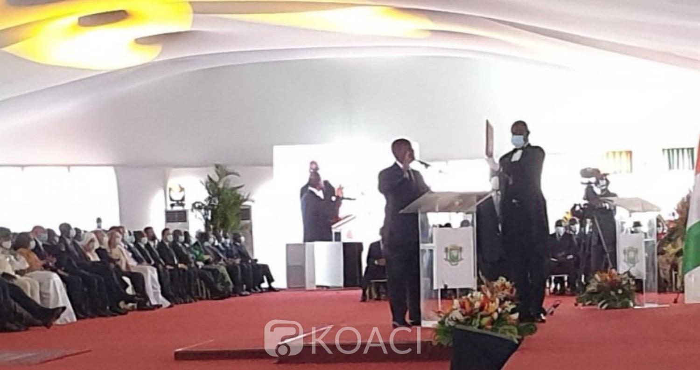 Côte d'Ivoire : Investi ce jour, Ouattara annonce la création d'un ministère de la réconciliation nationale, lutte contre la corruption et paiement des frais COGES par l'Etat et les collectivités