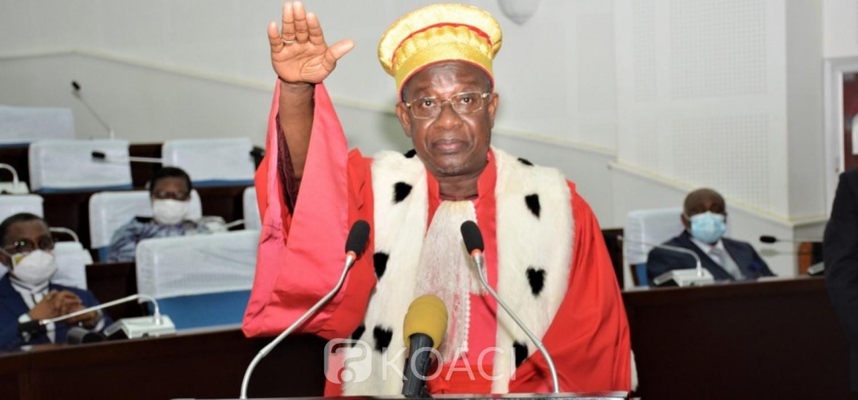 Togo :  Prestation de serment du président de la Cour suprême