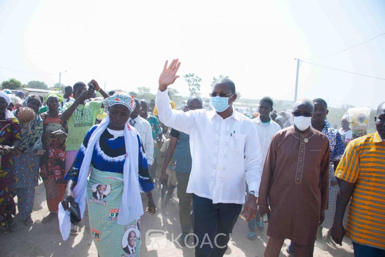 Côte d'Ivoire : Région de la Bagoué,  Bruno Nabagné Koné maintient le contact avec les populations