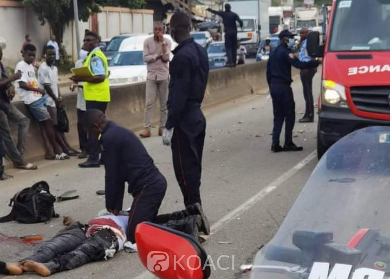 Côte d'Ivoire : Un motocycliste perd la vie  à la suite d'une collision avec un camion de ramassage d'ordure sur le boulevard de la Paix