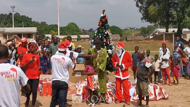 Côte d'Ivoire : Dabakala, pour la fête de Noël, des miniers soulagent les enfants défavorisés
