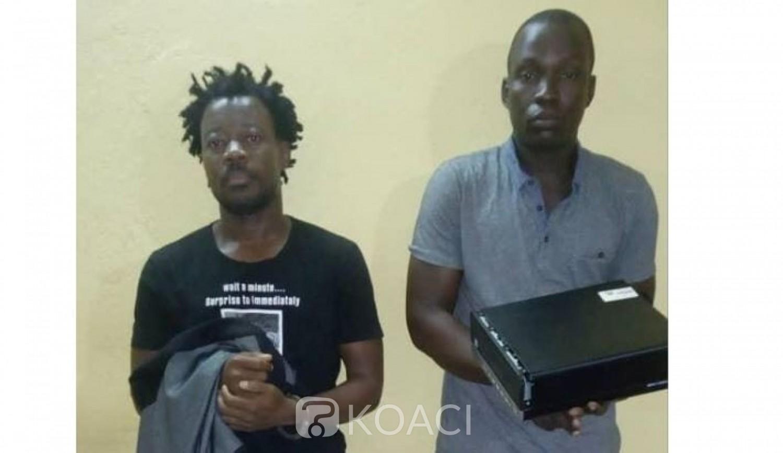 Côte d'Ivoire : Tiassalé, après avoir cambriolé la section du tribunal, 02 individus  interpellés