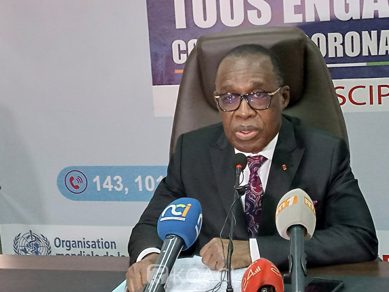 Côte d'Ivoire :    COVID-19, Dr Eugène Aka Aouélé donne les raisons de la résurgence de nouveaux cas et exhorte les populations au respect des mesures barrières