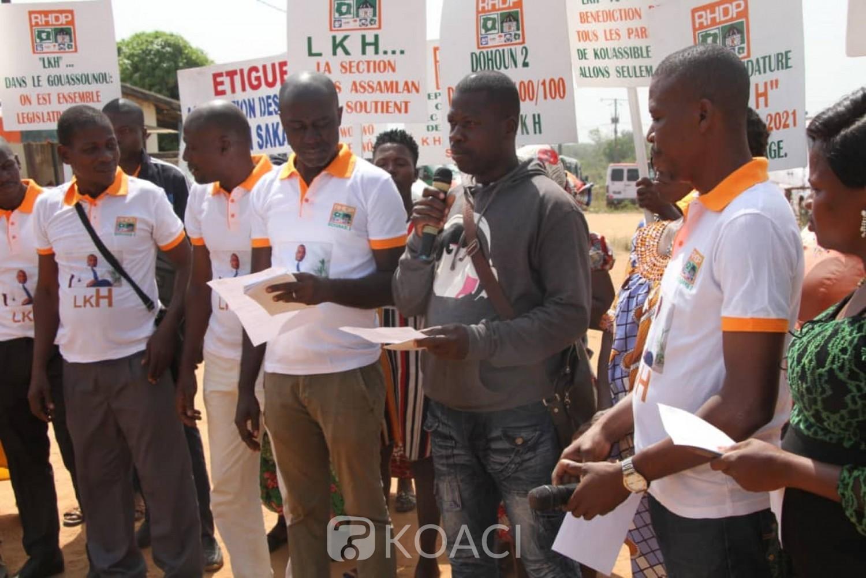 Côte d'Ivoire : Des délégués RHDP Gbêkê 2 apportent leur soutien à Louis Kouakou-Habonouan