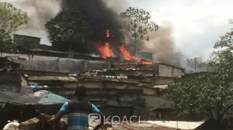 Côte d'Ivoire : Drame à Yopougon, un docker mort calciné dans un incendie