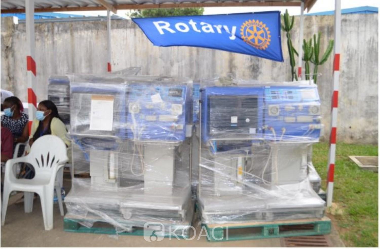 Côte d'Ivoire : Lutte contre l'insuffisance rénale, le Rotary club au secours du Ministère de la santé avec la remise de matériels d'hémodialyse d'une valeur de 350 millions FCFA