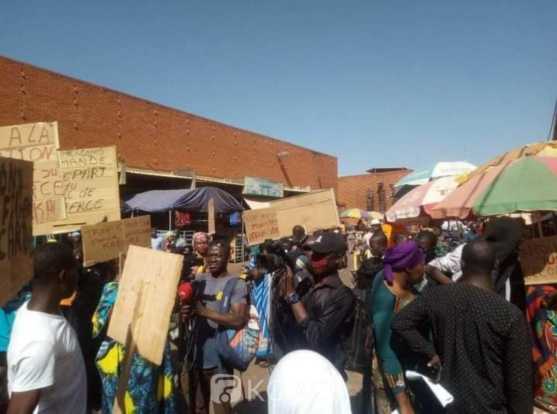 Burkina Faso : Des commerçants manifestent contre une éventuelle reconduction du ministre du commerce