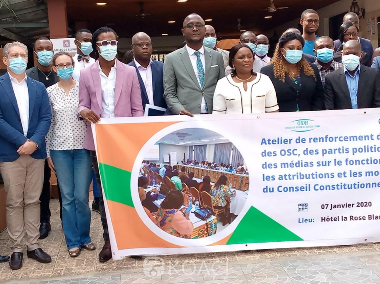 Côte d'Ivoire : Fonctionnement du Conseil constitutionnel, L'OIDH sensibilise société civile, partis politiques et médias
