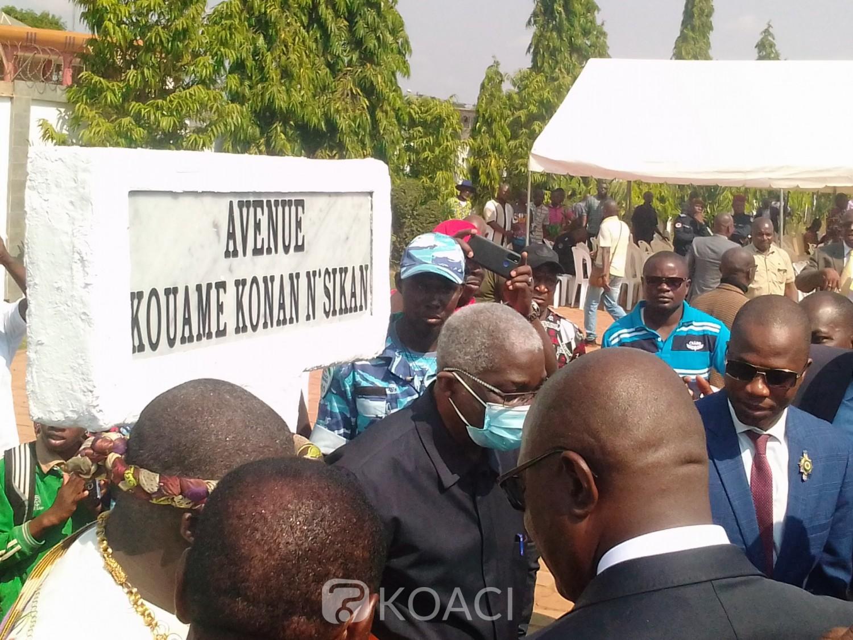 Côte d'Ivoire : Bouaké, la commune baptise une avenue du nom de « Kouamé Konan N'Sikan », défunt patron de UTB