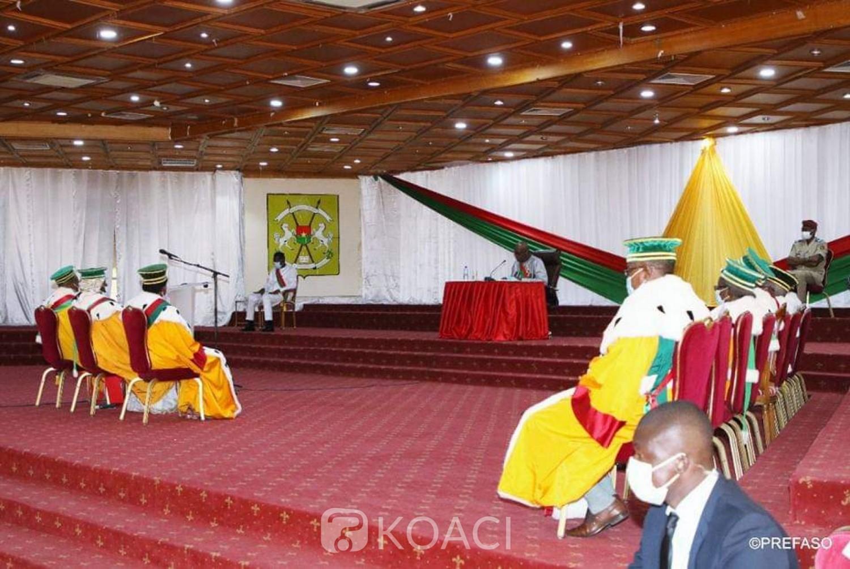 Burkina Faso : Conseil constitutionnel, trois nouveaux membres prêtent serment