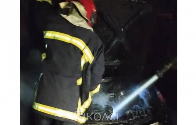 Côte d'Ivoire : Dimbokro, un taxi utilisant du gaz comme carburant explose dans un garage, des dégâts