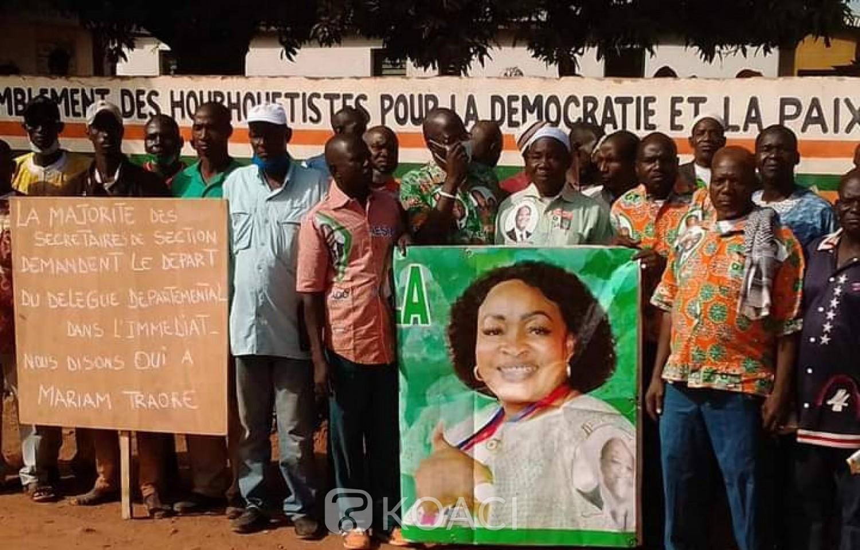 Côte d'Ivoire : Tengrela, RHDP, après une manifestation contre la candidature de Traoré Mariam, des militants marchent pour exprimer leur solidarité à la députée
