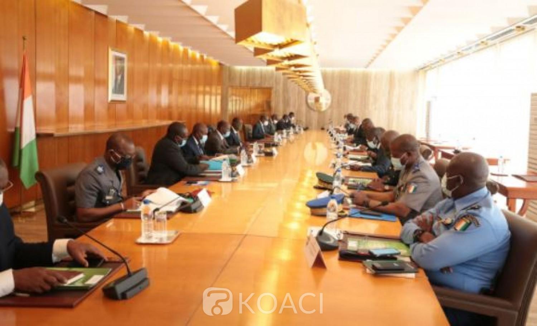 Côte d'Ivoire : Réunion du CNS, pourquoi Ouattara a félicité Hamed Bakayoko, Vagondo ainsi que les Grands Commandements