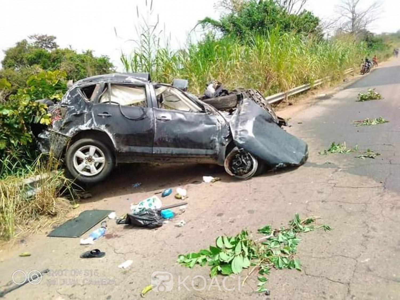 Côte d'Ivoire : Zuenoula, 03 membres d'une famille périssent dans un accident de circulation