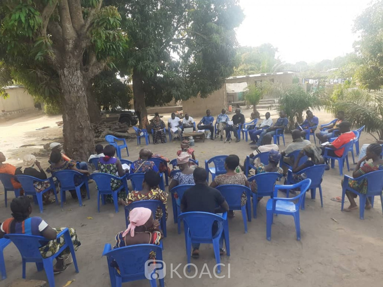 Côte d'Ivoire : Bouaké, afin d'obtenir  l'adhésions des populations aux PUD, des chefs de village rencontrés