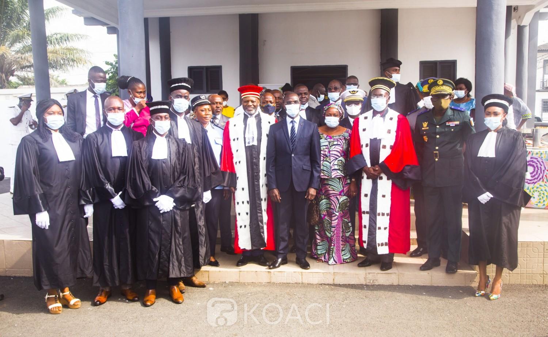 Côte d'Ivoire :  Tribunal militaire, prestations de serment de 3 magistrats et 2 greffiers, le démarrage des audiences dans les prochains jours
