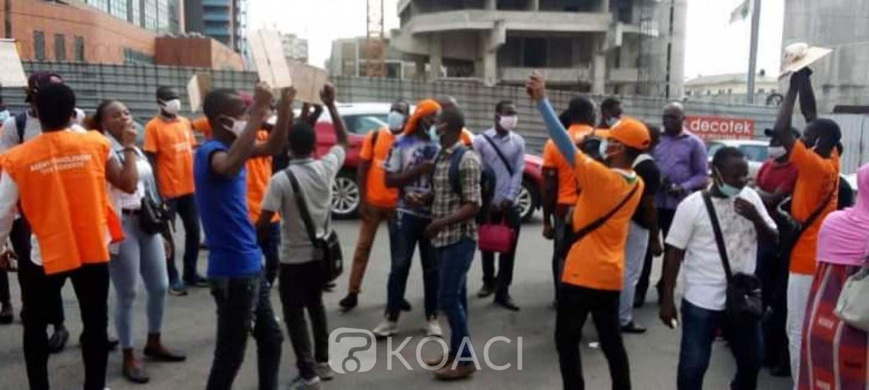 Côte d'Ivoire : Des agents temporaires de l'Oneci manifestent au Plateau, ils réclament des mois d'arriérés de salaire
