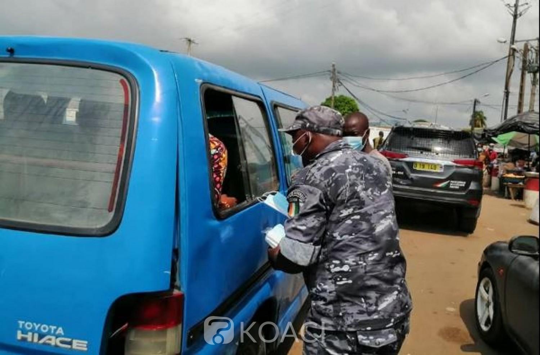 Côte d'Ivoire :    COVID-19, 110 milliards de FCFA de pertes enregistrées dans le secteur du transport, selon une étude récente de l'UE, contrôle de l'application des mesures barrières dans les gares
