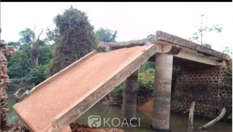 Côte d'Ivoire : Duekoué, après plusieurs alertes sans suite, le pont de Nidrou cède finalement dans l'indifférence d'une réaction des autorités
