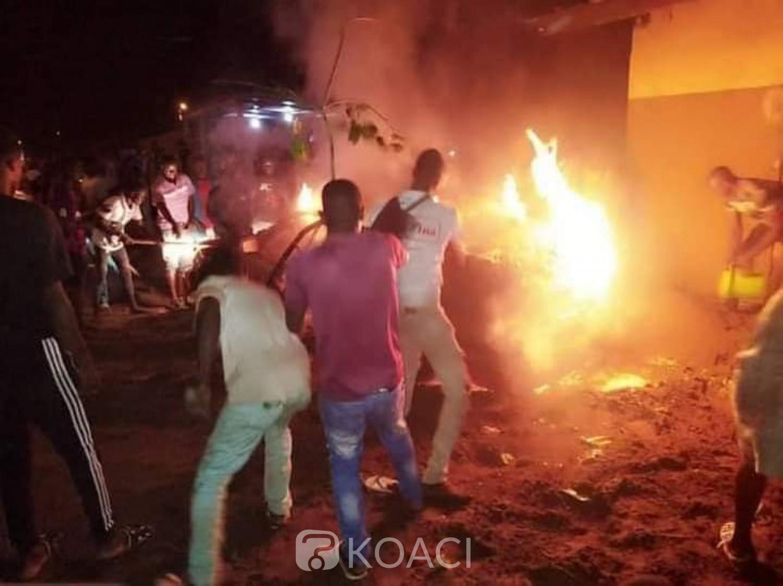 Côte d'Ivoire : Bonoua, un transvasement de gaz dans un dépôt tourne mal, déclenche un incendie et fait 02 blessés