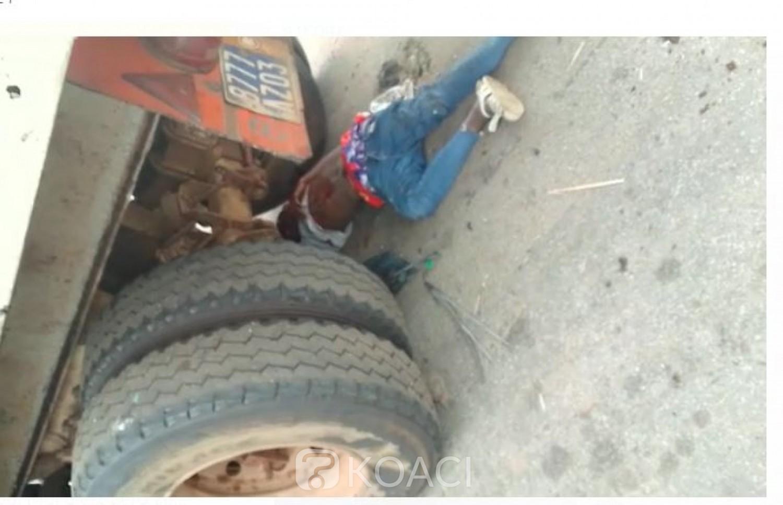 Côte d'Ivoire : Week-end de drame sur l'autoroute du nord, un camion perd le contrôle et percute 02 jeunes à vélo