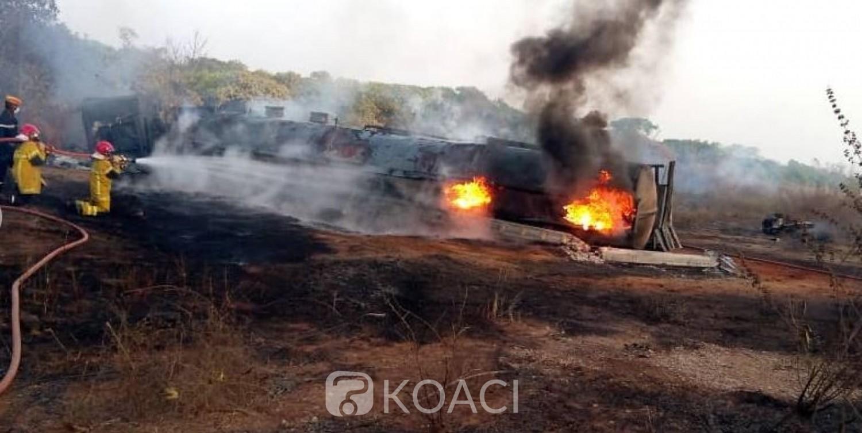 Côte d'Ivoire : Un camion-citerne transportant du carburant prend feu, bilan deux morts