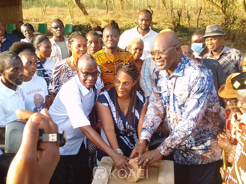 Côte d'Ivoire : Sakassou, sous l'impulsion du Dircab d'Hamed Bakayoko, plusieurs logements de maîtres au profit d'un établissement