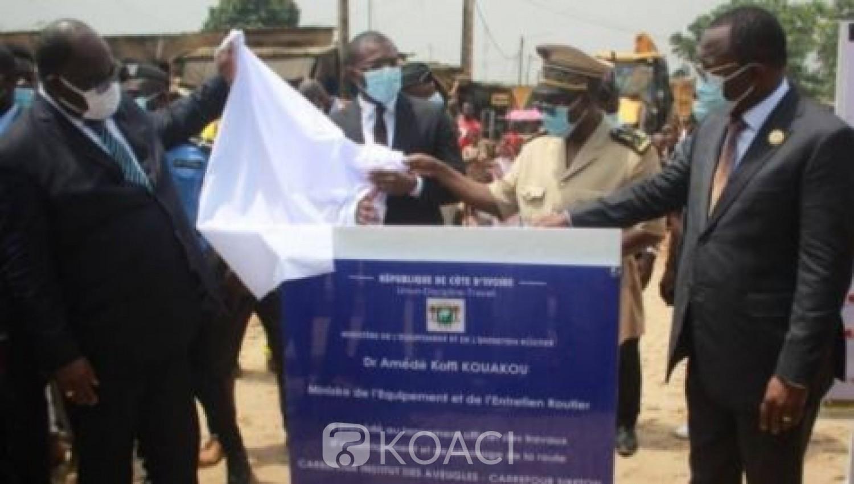 Côte d'Ivoire : Yopougon-Attécoubé,  enfin le démarrage des travaux de bitumage de la route Institut des aveugles-carrefour SI Béton