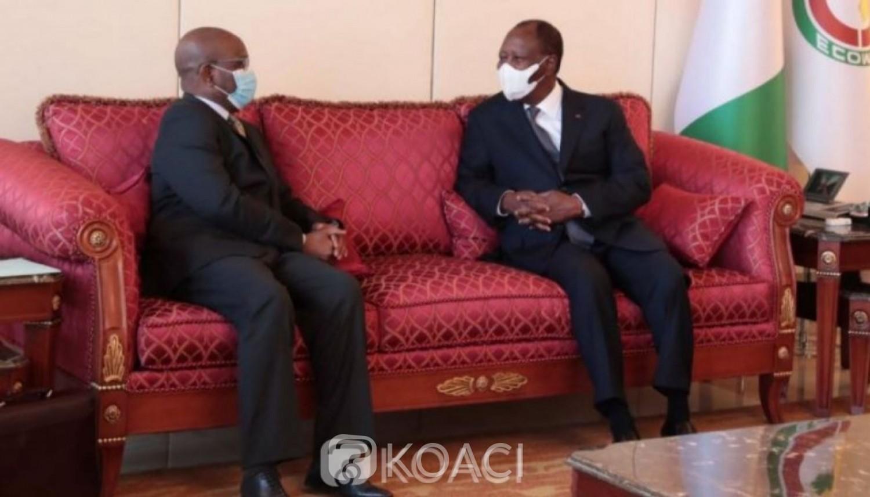 Côte d'Ivoire : Le Président de la Commission de l'UEMOA fait part de la  crise que traverse l'institution au chef de l'Etat Alassane Ouattara