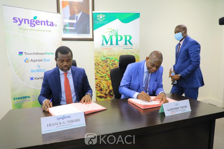 Côte d'Ivoire:    Atteinte des objectifs de la SNDR, le Gouvernement signe un accord de coopération avec un privé, pour la fourniture d'un portefeuille complet de produits